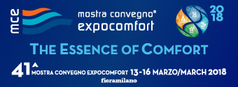 MCE2018 | 41th Mostra Convegno Expocomfort | 13-16 Mart 2018 fieramilano, İtalya