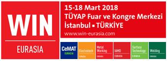 WIN EURASIA | 15-18 Mart 2018, TÜYAP Fuar ve Kongre Merkezi, İstanbul